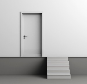 Trap naar deur